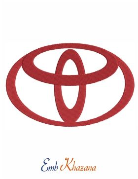 Toyota Logo Embroidery Design Toyota Logo Machine Embroidery Logo Embroidery Logo