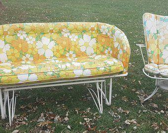 Amazing Black Iron Outdoor Furniture Vintage Midcentury White Metal Bralicious Painted Fabric Chair Ideas Braliciousco