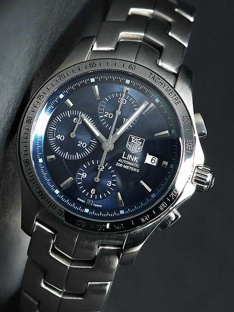 Tag Heuer - Link Series blue chronograph 2011.  Some day, honey.  Some day.