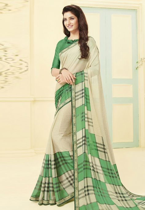 6cb9dfdd69d76c Buy Beige Silk Festival Wear Saree 156383 with blouse online at lowest price  from vast collection of sarees at Indianclothstore.com.