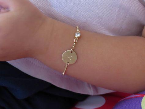 Infant Bracelet Baby Bracelet Child Bracelet Gold by miniLALI