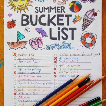 Printable Summer Bucket List Summer Bucket List Printable Summer Bucket Summer Bucket Lists