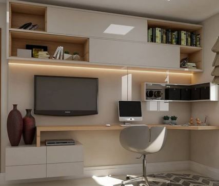 Bedroom And Home Office Design