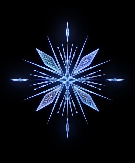 frozen 2 snowflake template  Frozen 7, Animation, Crystal | Frozen tattoo, Frozen 7 ...