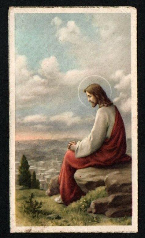 Holy card antique de Jesus estampa santino andachtsbild image pieuse