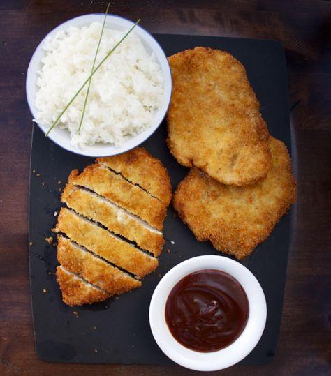 Chicken Katsu and Tonkatsu Sauce
