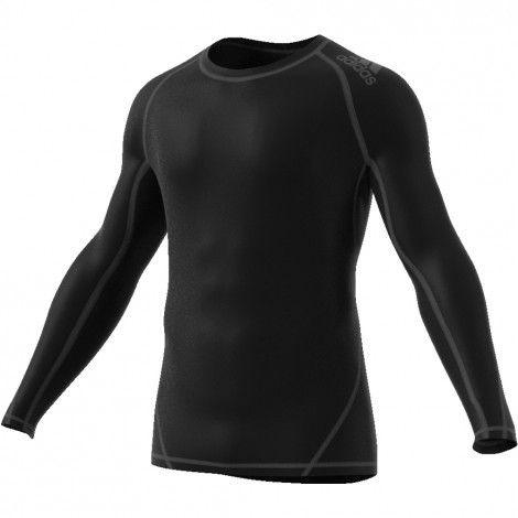 adidas Alphaskin Sport Long Sleeve shirt heren black ...