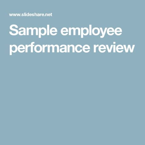 240+ Performance Evaluation Phrases u2013 Sample Performance Review - employee review