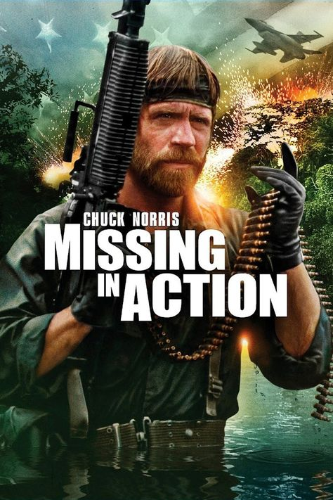 Missing in Action (1984) MOVIES! Pinterest Action, Movie and - missing in action poster