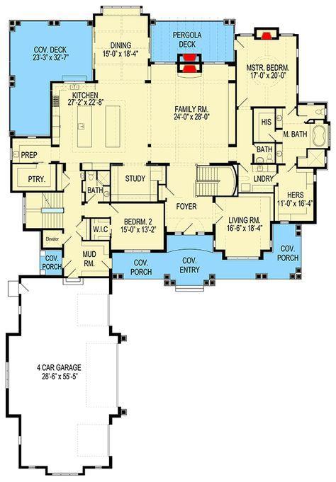 Plan 290014iy Marvelous Huge Shingle Style House Plan Architectural Design House Plans House Plans Floor Plans
