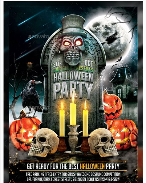 Halloween Flyer Template V2 - Party Flyer Templates For Clubs - halloween party flyer