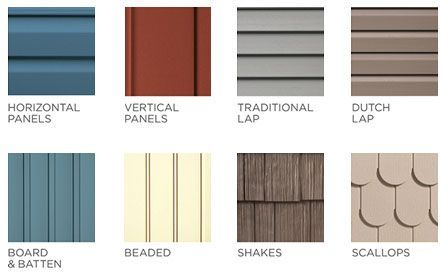 Vinyl Siding Siding Lap Siding Vertical Siding Home Siding Shingle Siding Vinyl Siding Styles Exterior Siding Options Siding Colors For Houses