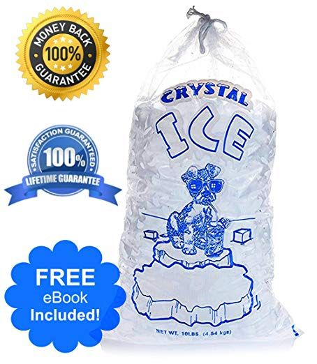 Crystal Clear Commercial Ice Bags With Drawstring 10 Lb Or 20 Lb Extra Strong Reusable Puncture Proof Safe Food Grade Plastic 1 5 Mil 10lb Pack Of 1 With Images Safe Food Ice Bag Bags