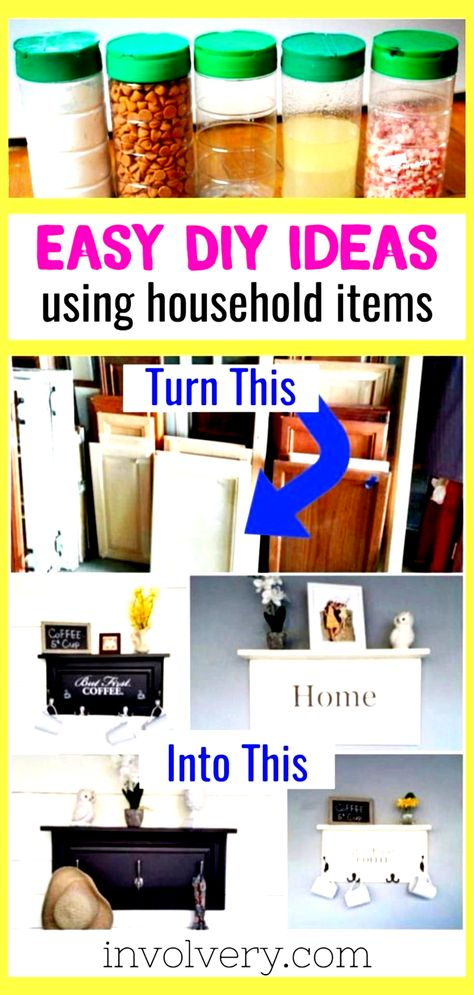 Upcycle crafts and easy DIY decor with household items.  Repurpose, reuse and recycle in creative wa... - #crafts #decor #household #items #repurpose #reuse #upcycle - #DiyFurnitureUpcycle