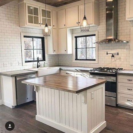 60 Great Farmhouse Kitchen Countertops Design Ideas And Decor 51 Moderne Bauernhaus Kuchen Rustikale Kuchenschranke Und Kuchendesign