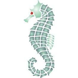 seahorse stencil