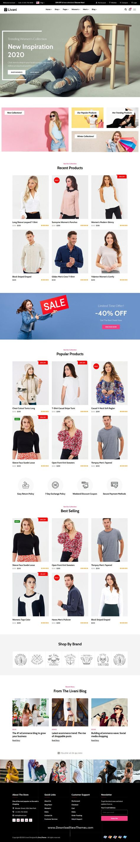 React Next eCommerce Store + Admin Panel Template