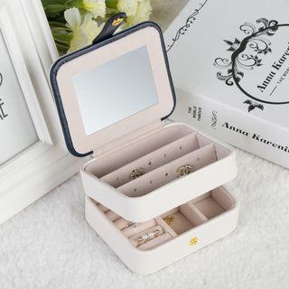 Portable Boîte à bijoux de voyage Boucles d/'oreilles collier anneau de stockage Organisateur Zipper Case