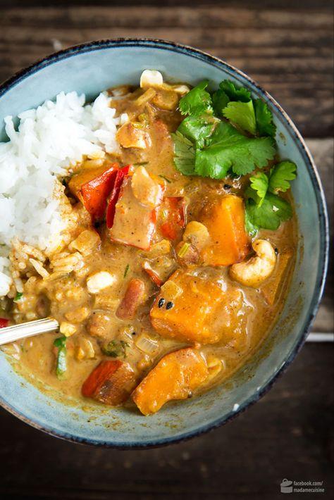 Kürbis-Curry mit Kokosmilch - Madame Cuisine
