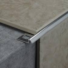 Transition From Tile To Concrete Tile Edge Trim Tile Trim Tile Bathroom
