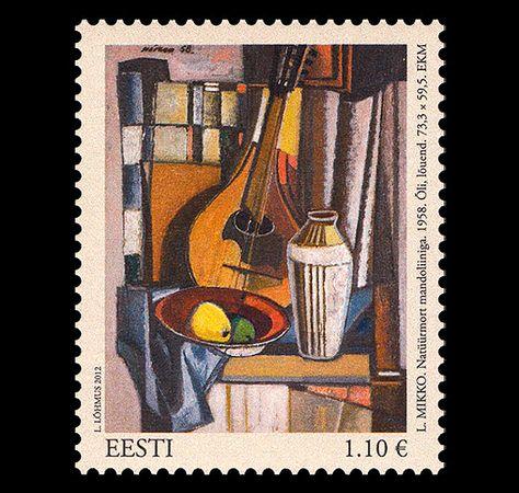 Party by Evald Okas Blank Art Postcard from Soviet Times Estonian Painter Printed in 1989 Estonian Art