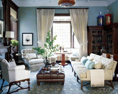 Modern English Tudor Style Elle Decor Living Room Living Room Decor Rustic Home