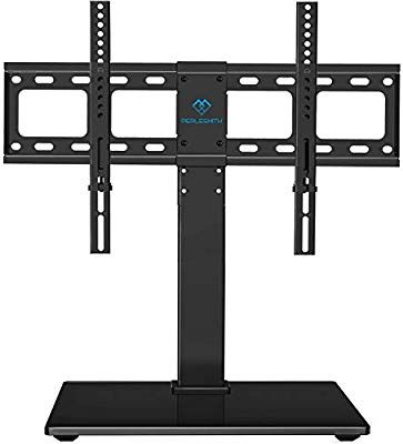 Amazon Com Perlesmith Universal Swivel Tv Stand Base Table Top Tv Stand For 37 65 Inch Lcd Led Tvs Height Ad Swivel Tv Tv Base Stand Tv Stand With Mount