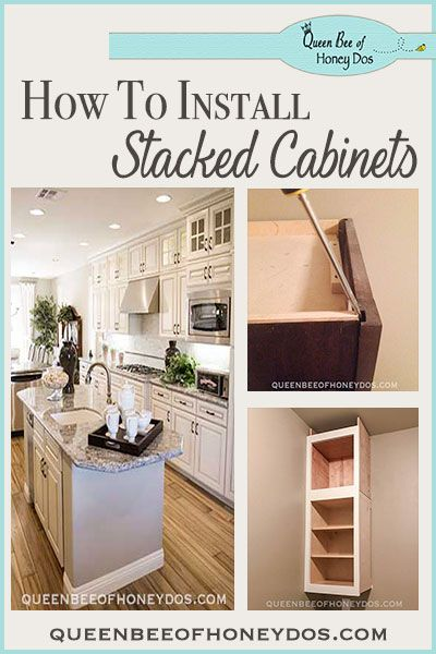 How To Install Stacked Cabinets Over Builder S Grade Installing