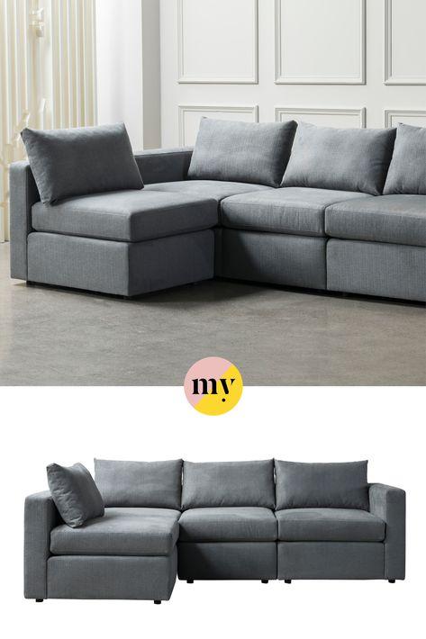 Miller Three Seat Corner Sofa Left Or Right Hand Charcoal Corner Sofa Sofa My Furniture
