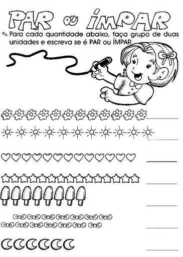 Atividades De Matematica Par Ou Impar Par E Impar Atividades