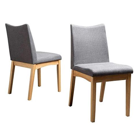 Cane Dining Chairs Set of Two 60s Dark Grey Upholstery Wood