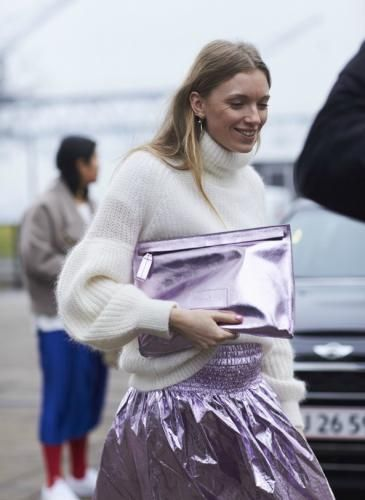 The Best Street Style At Copenhagen Fashion Week Looking for more lavender fashion & street style ideas? Check out my board: Lavender Street Style by Street Style // Fashion // Spring Outfit // Style Ideas