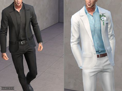 updates the sims 4 Sims 4 Men Clothing, Sims 4 Male Clothes, Mens Clothing Styles, Men Clothes, Clothes Swag, Male Clothing, Boys Slim Fit Suits, Navy Slim Fit Suit, Mens Fashion Suits