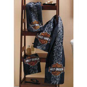 Copripiumino Harley Davidson.Harley Davidson Towel Set For The Harley Guy In My Life Regali