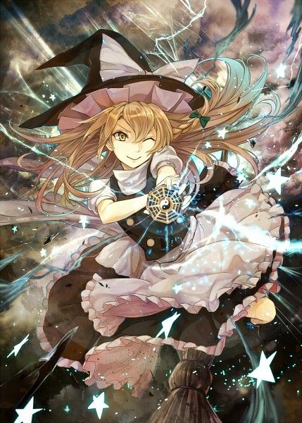 Kirisame Marisa Preparing To Fire Her Master Spark Anime Anime Images Anime Art