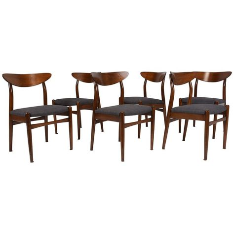 Magnificent Set Of Six 1Stdibs Dining Room Chairs Dining Danish Mid Ocoug Best Dining Table And Chair Ideas Images Ocougorg