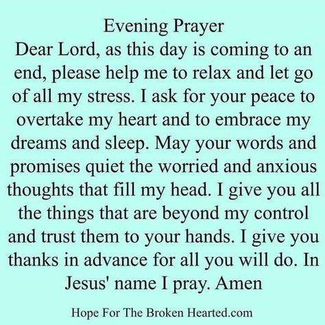 Evening Prayer. ❤️