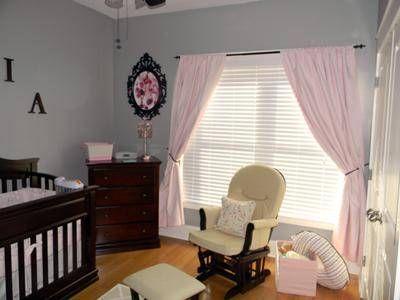 Pink And Gray Nursery Pink And Gray Nursery Baby Room Curtains