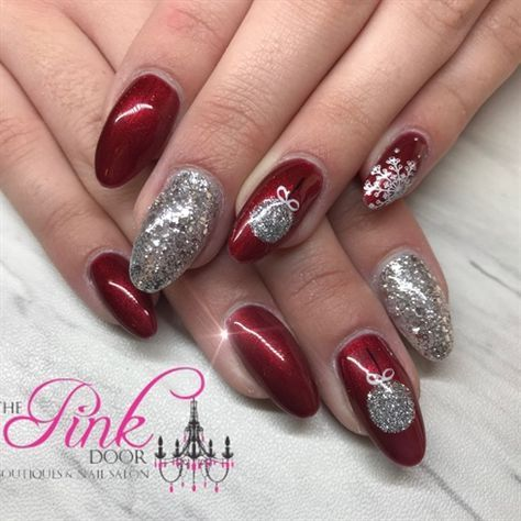 Christmas Is Here Hand Painted And Stamped Christmas Nail Art Gelii Geltwo Manicure Christmasnails Chris With Images Christmas Nail Art Fancy Nail Art Christmas Nails