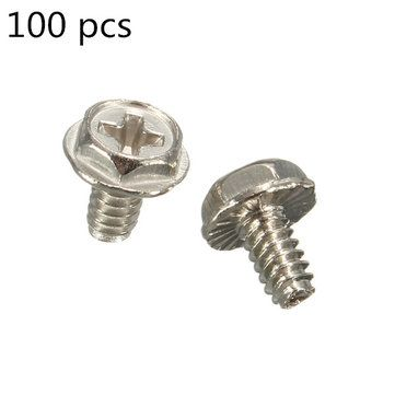 Standoffs Hard Drive // PC Case 100 Screws 6//32 Pan Head Computer Screw