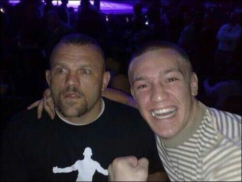 the Iceman and young Conor McGregor - Irish MMA Fighter : Shop at CageCult for original #MMA inspired fashion for powerful #MixedMartialArts fighters and savage #UFC fight fans: http://cagecult.com/mma