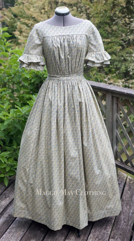 afternoon gown – Maggie May Clothing- Fine Historical Fashion 1800s Fashion, Victorian Fashion, Vintage Fashion, Steampunk Fashion, European Fashion, Fashion Fashion, Korean Fashion, Fashion Jewelry, Vintage Outfits