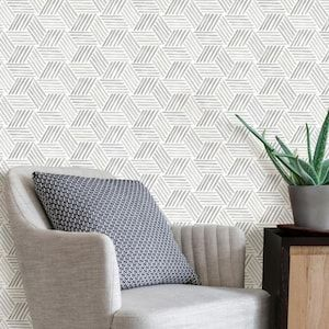 Scott Living 30 75 Sq Ft Taupe Grey Vinyl Geometric Self Adhesive Peel And Stick Wallpaper Lowes Com Peel And Stick Wallpaper Self Adhesive Wallpaper Modern Pattern Geometric