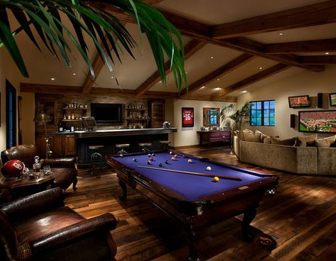 Browse photos of Basement Rec Room ideas. Find ideas and inspiration for Basement Rec Room to add to your own home. See more ideas about Game room basement, Game room and Finished basement bars Pool Table Room, Pool Tables, Man Cave Basement, Basement Bars, Game Room Basement, Basement Pool, Basement Ceilings, Basement Ideas, Ultimate Man Cave
