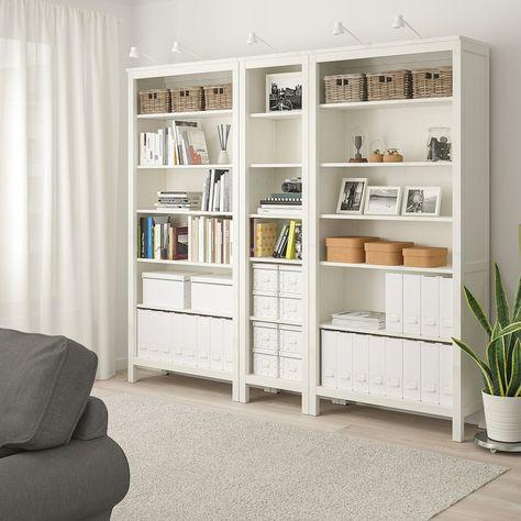 IKEA - HEMNES Bookcase, White stain