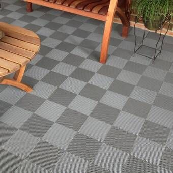 Coin Nitro Mat Snap Together 12 X 12 Garage Flooring Tile In 2020 Patio Flooring Interlocking Deck Tiles Deck Tile