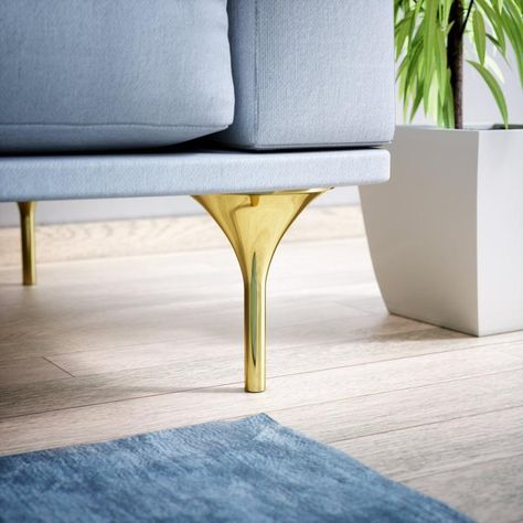 Set Of 4 Furniture Legs Couch Legs Brass Sofa Legs Gold Sofa
