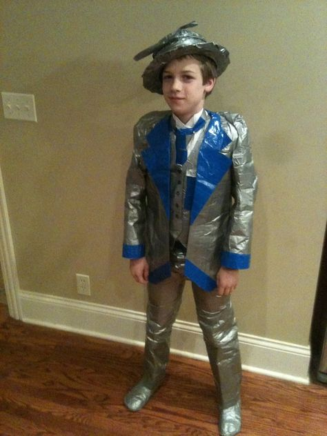 Suits can be made of duct tape too. Tehis little guy got style!