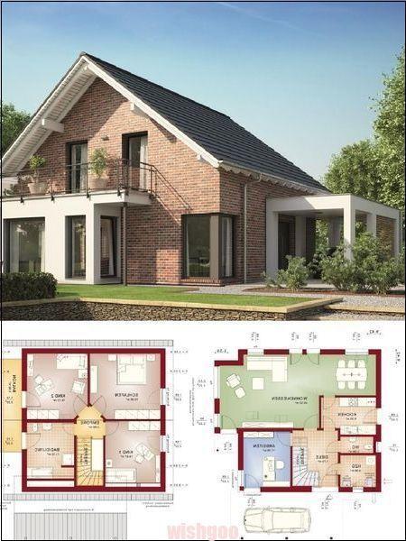 Modernes Einfamilienhaus Mit Klinkerfassade Satteldacharchitektur Carport A Wohn Architektu Einfamilienhaus Moderne Einfamilienhauser Klinkerfassade