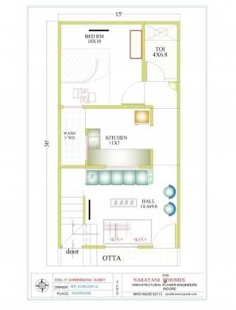 Image Result For House Plan 15 X 30 Sq Ft 20x30 House Plans